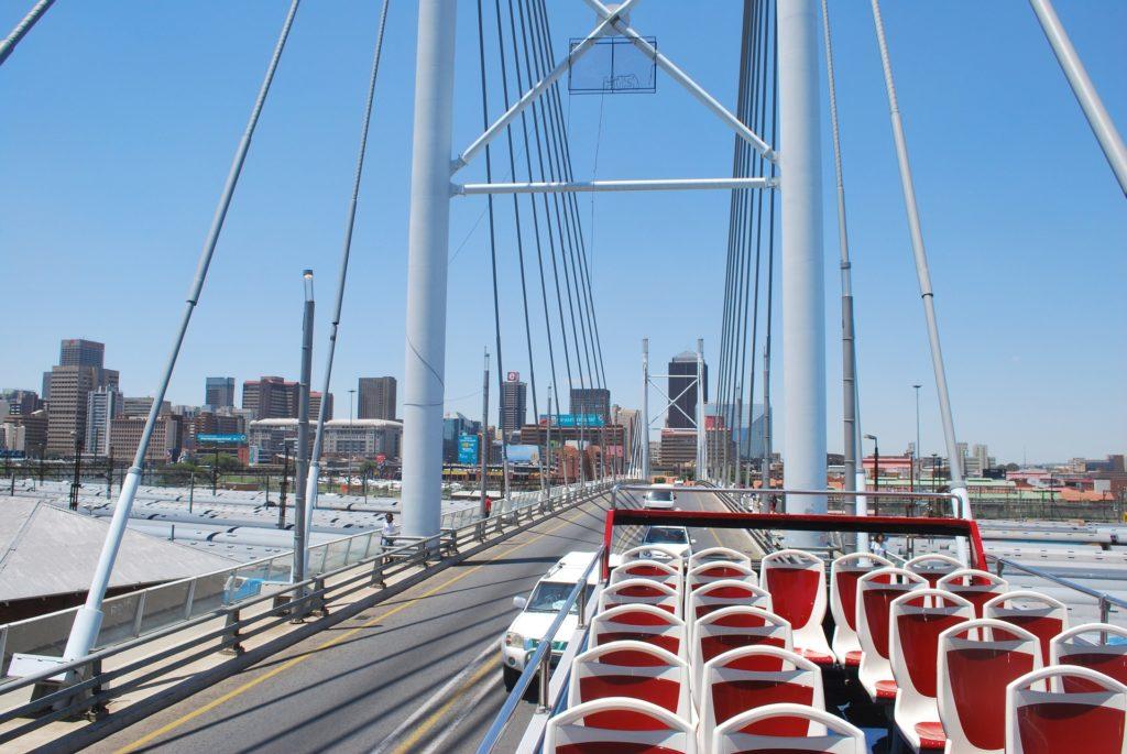 South Africa, Johannesburg - Nelson Mandela Cable Bridge