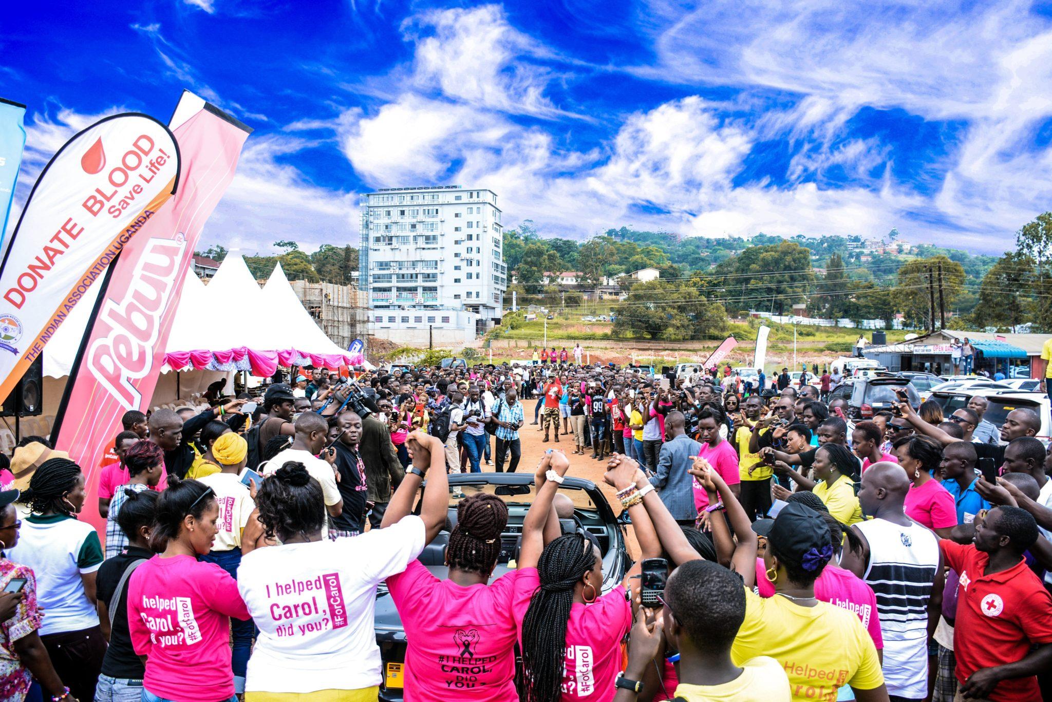 Crowd of activists