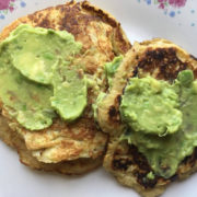 pancakes with avocado spread