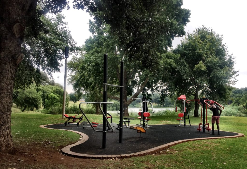 The gym at the Westdene Dam